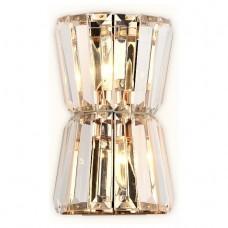 Накладной светильник Ambrella Traditional 8 TR5219/2 СD/CL золото/прозрачный E14/2 max 40W 245*150*110