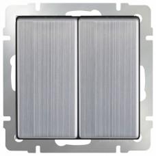 Выключатель двухклавишный без рамки Werkel Глянцевый никель WL02-SW-2G