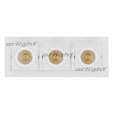 Встраиваемый светильник Arlight CL-KARDAN-S260x102-3x9W Warm (WH, 38 deg)