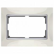 Рамка для двойной розетки Werkel Snabb WL03-Frame-01-DBL-ivory