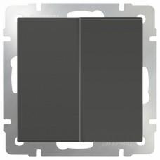 Выключатель двухклавишный без рамки Werkel Серо-коричневый WL07-SW-2G