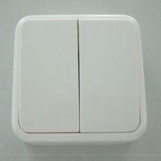 Выключатель двухклавишный Imex 1122U 1122U-S100