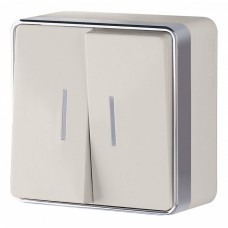 Выключатель двухклавишный с подсветкой Werkel WL15-03-03