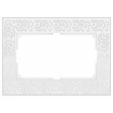 Рамка для двойной розетки Werkel  WL05-Frame-01-DBL-white
