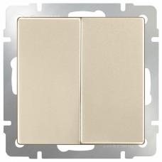 Выключатель двухклавишный без рамки Werkel WL11 WL11-SW-2G