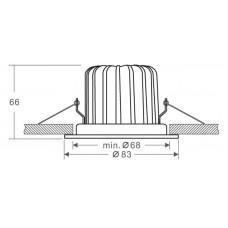 Встраиваемый светильник Deko-Light COB 68 MOOD IP65 565192