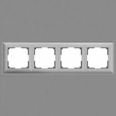 Рамка на 4 поста Werkel WL14 WL14-Frame-04 (Серебряный)