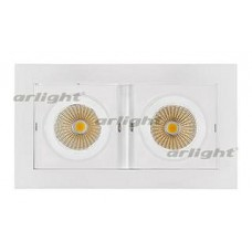 Встраиваемый светильник Arlight  CL-KARDAN-S180x102-2x9W White (WH, 38 deg)