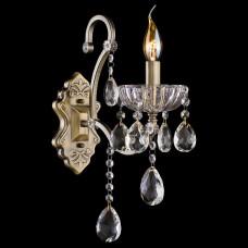 Бра Eurosvet 3108 3108/1 античная бронза/прозрачный хрусталь Strotskis
