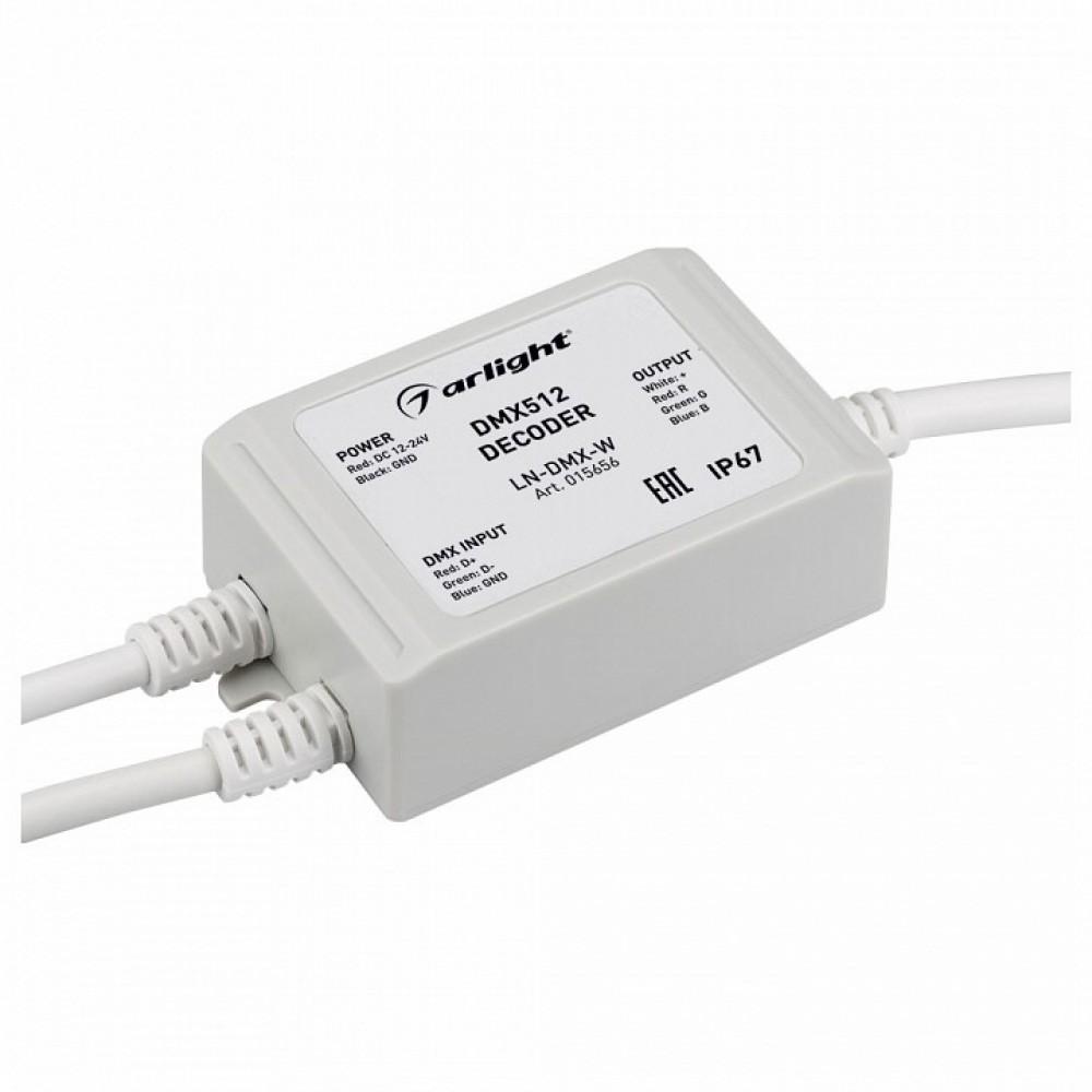 Декодер DMX Arlight LN-DMX LN-DMX-W (12-24V, 144-288W)