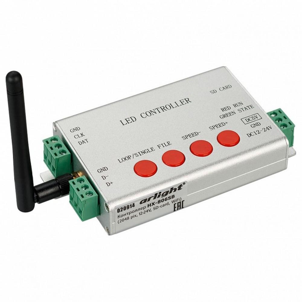 Контроллер Arlight HX-806S HX-806SB (2048 pix, 12-24V, SD-card, WiFi)