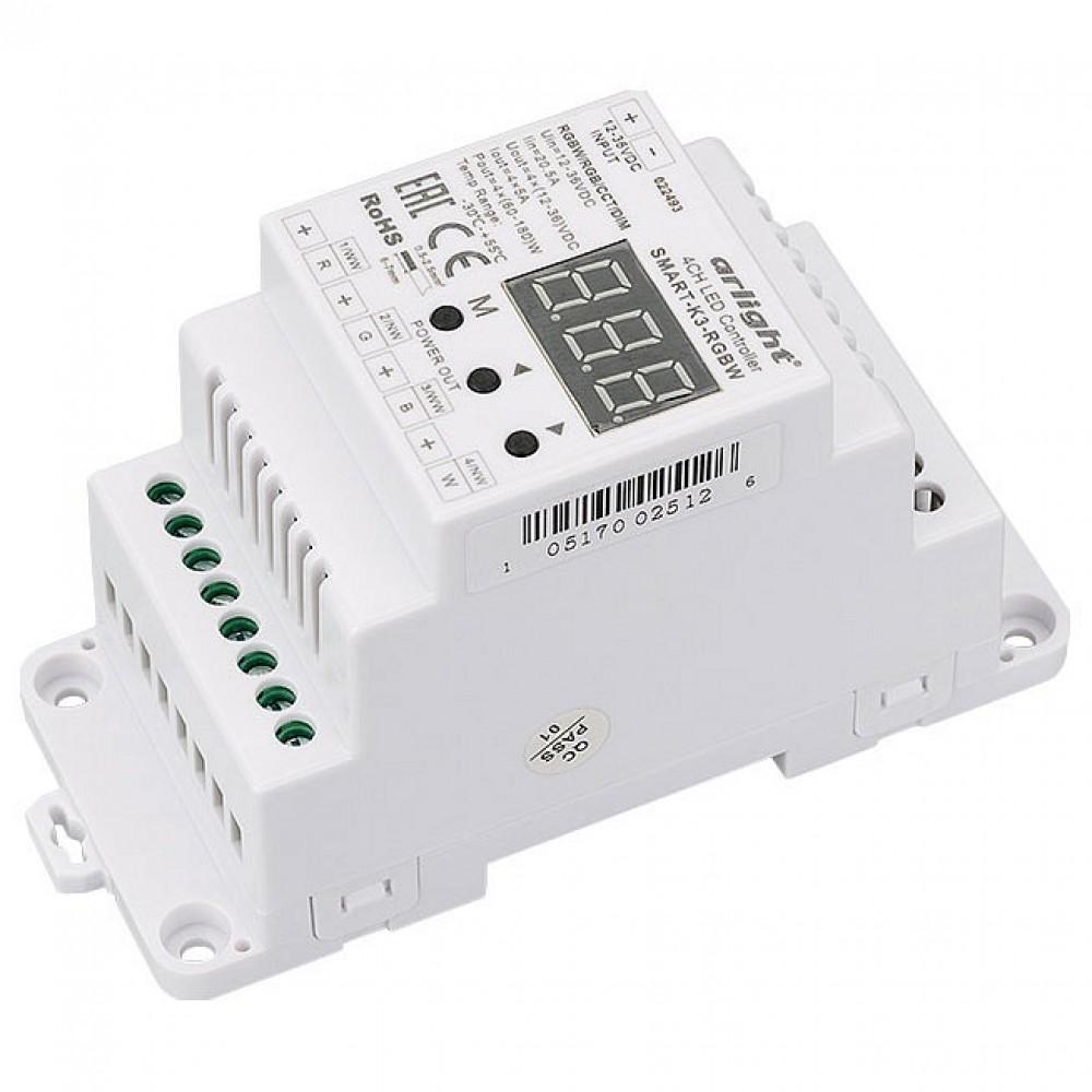 Контроллер-регулятор цвета RGBW Arlight SMART-K SMART-K3-RGBW (12-36V, 240-720W, DIN)