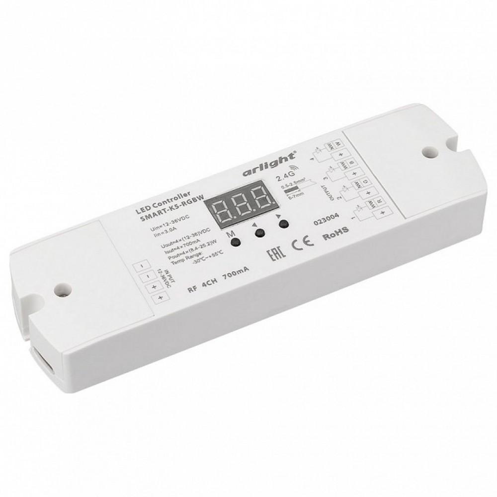 Контроллер-регулятор цвета RGBW Arlight SMART-K SMART-K5-RGBW (12-36V, 4x700mA)