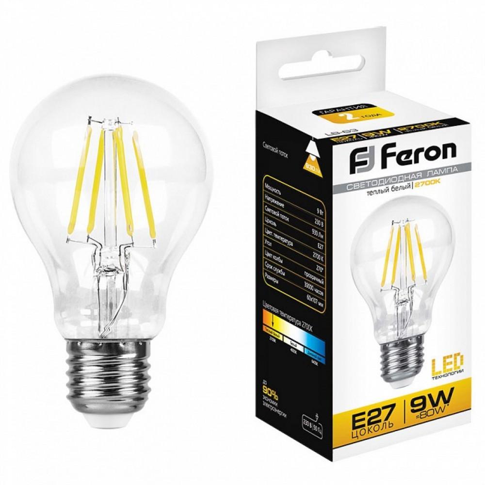 Лампа светодиодная Feron LB-63 E27 9Вт 2700K 25631