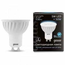 Лампа светодиодная Gauss 1015 GU10 5Вт 4100K 101506205