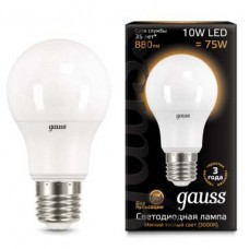 Лампа светодиодная Gauss 1025 E27 10Вт 3000K 102502110