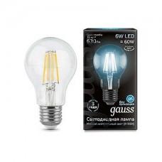 Лампа светодиодная Gauss 1028 E27 6Вт 4100K 102802206