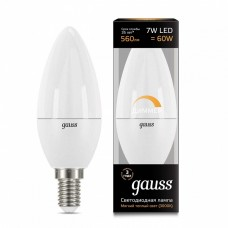 Лампа светодиодная Gauss 1031 E14 7Вт 3000K 103101107-D