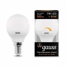 Лампа светодиодная Gauss 1051 E14 7Вт 3000K 105101107-D