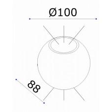 Накладной светильник Donolux DL18442 DL18442/12 Black R Dim