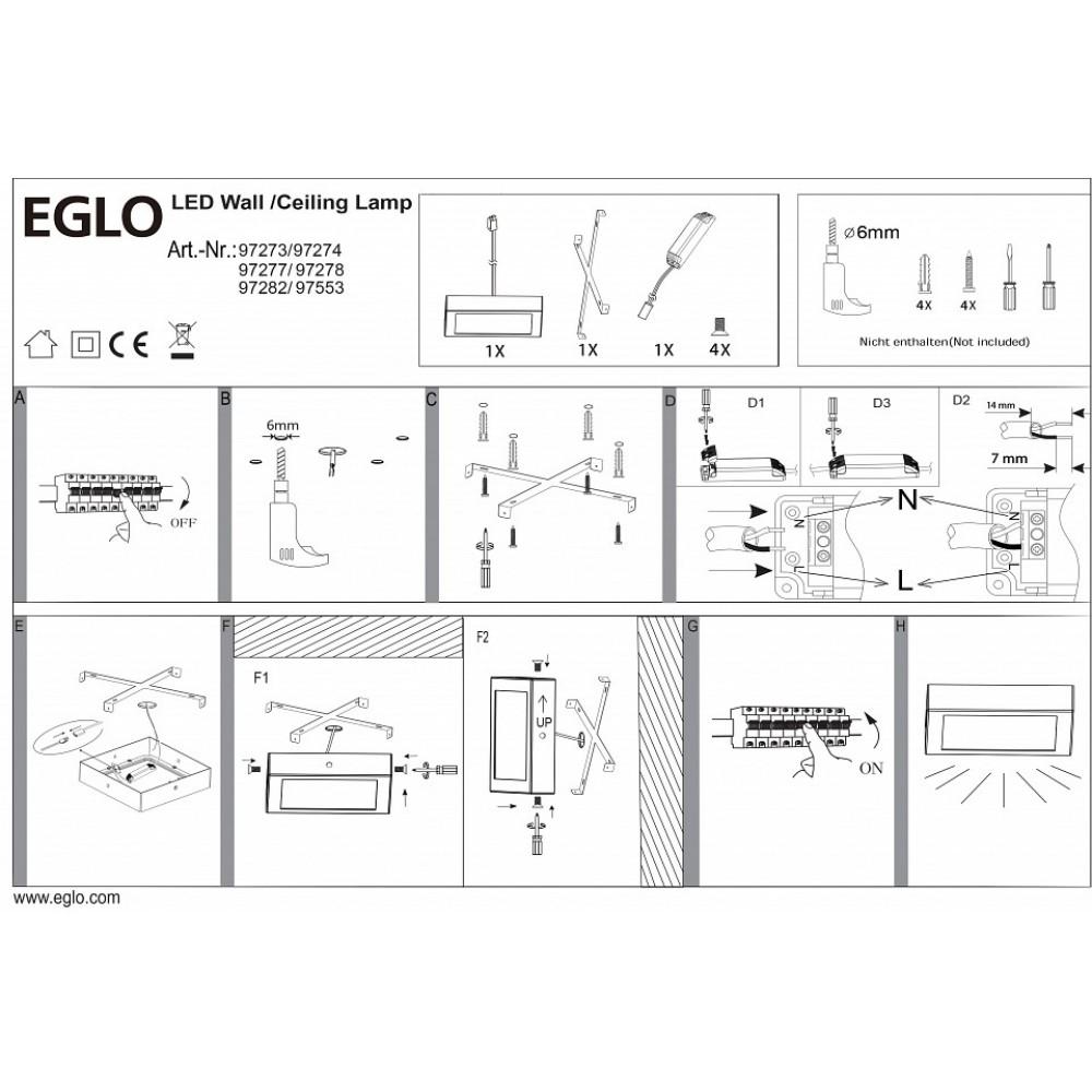 Накладной светильник Eglo Fueva 1 97553