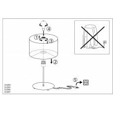 Настольная лампа декоративная Eglo Pasteri 31595