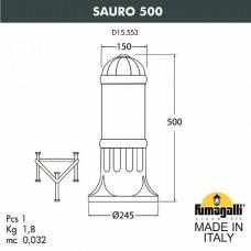 Наземный низкий светильник Fumagalli Sauro D15.553.000.BYE27