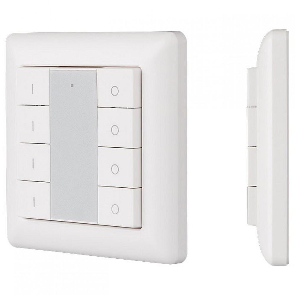 Панель-диммера клавишная накладная Arlight Knob SR-2853K8-RF-UP White (3V, DIM, 4 зоны)