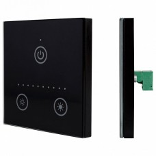 Панель-диммера сенсорная встраиваемая Arlight Sens CT-201-IN Black (12-24V, 0-10V)