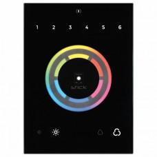 Панель-регулятора ЦТ и цвета RGB сенсорная встраиваемая Arlight Sunlite STICK-CU4 Black