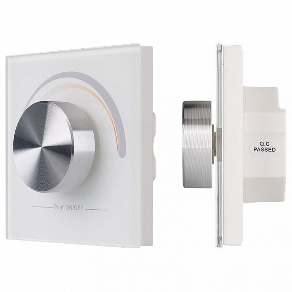 Панель-регулятора ЦТ роторная встраиваемая Arlight Rotary SR-2836R-CCT-RF-IN White (3V, MIX)