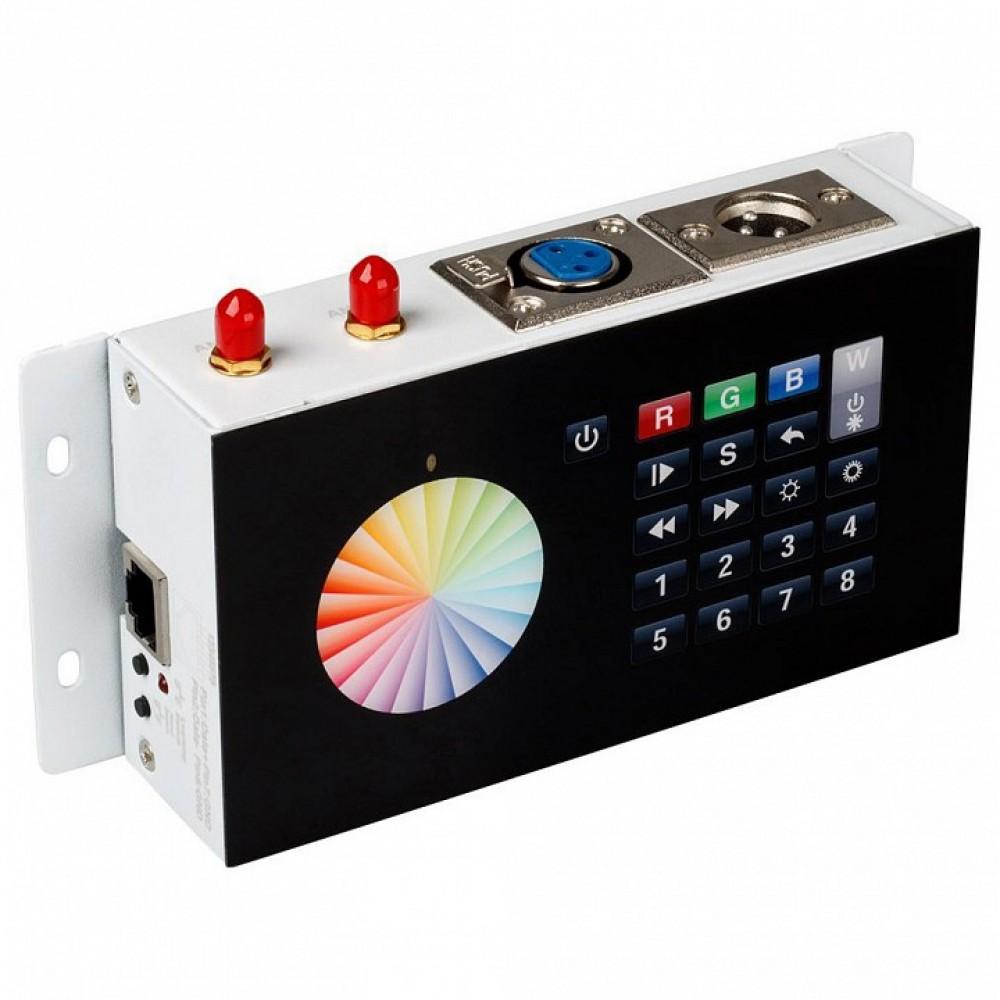 Панель-регулятора цвета RGBW клавишная накладная Arlight SR-2816 DMX SR-2816WI Black (12V, WiFi, 8 зон)
