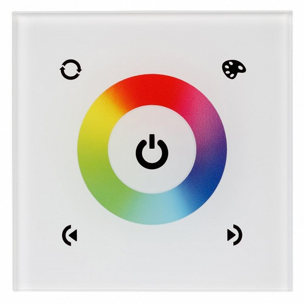 Панель-регулятора цвета RGBW сенсорная встраиваемая Arlight Sens LN-08E White (RGB,12-24V,144-288W)