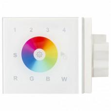Панель-регулятора цвета RGBW сенсорная встраиваемая Arlight Sens SR-2820AC-RF-IN White (220V, RGBW, 4зоны)