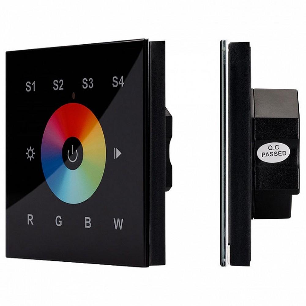 Панель-регулятора цвета RGBW сенсорная встраиваемая Arlight Sens SR-2820B-AC-RF-IN Black (220V,RGBW,1 зона)