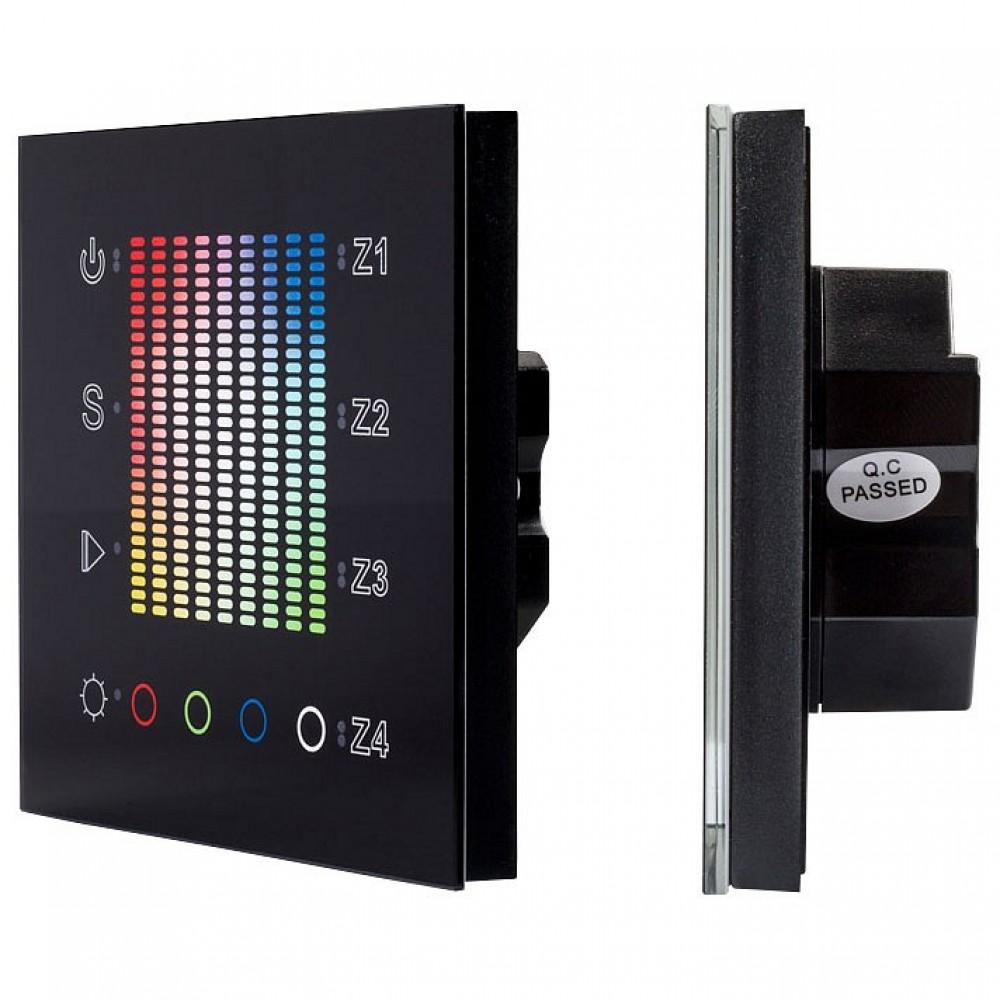 Панель-регулятора цвета RGBW сенсорная встраиваемая Arlight Sens SR-2831AC-RF-IN Black (220V, RGB, 4зоны)
