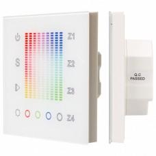 Панель-регулятора цвета RGBW сенсорная встраиваемая Arlight Sens SR-2831AC-RF-IN White (220V, RGB, 4зоны)