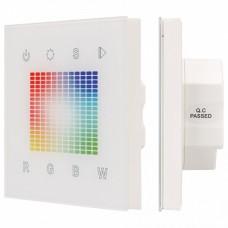 Панель-регулятора цвета RGBW сенсорная встраиваемая Arlight Sens SR-2831S-AC-RF-IN White (220V,RGB,1зон