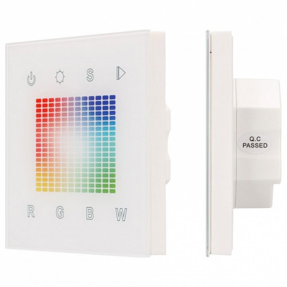 Панель-регулятора цвета RGBW сенсорная встраиваемая Arlight Sens SR-2831S-RF-IN (12-24V, RGBW, DMX, 1 зона)