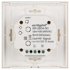 Панель-регулятора цвета RGBW сенсорная встраиваемая Arlight Sens SR-2834-5C-AC-RF-IN White (220V, RGB+CCT, 1 зона)