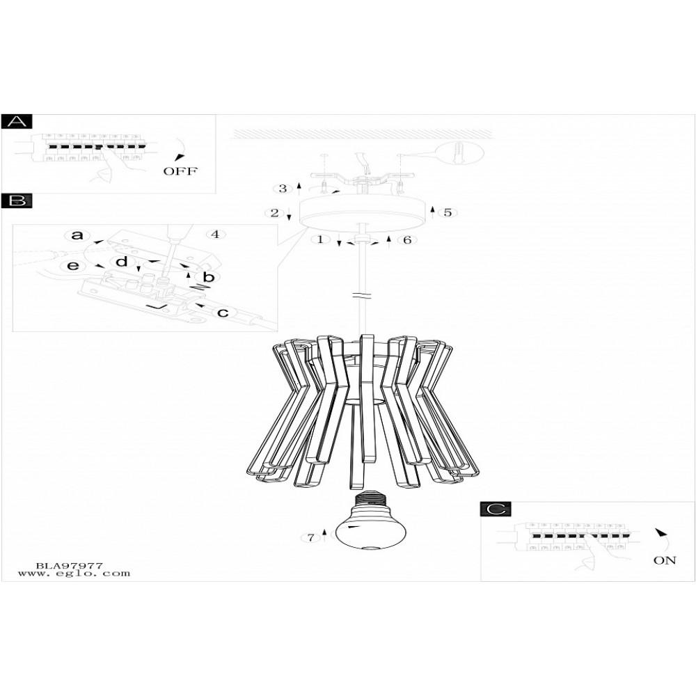 Подвесной светильник Eglo Locubin 97977
