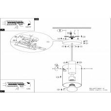 Подвесной светильник Eglo Montefino 97366