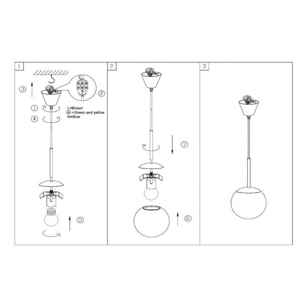 Подвесной светильник Globo Balla 1584