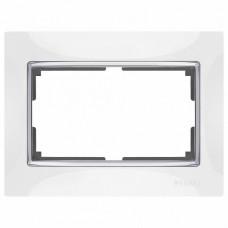 Рамка для двойной розетки Werkel Snabb WL03-Frame-01-DBL-white