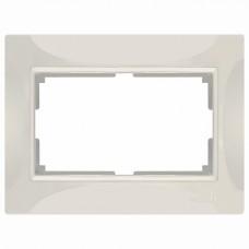 Рамка для двойной розетки Werkel WL03 WL03-Frame-01-DBL-ivory (Слоновая кость)
