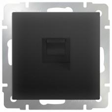 Розетка Ethernet RJ-45 без рамки Werkel Черный матовый WL08-RJ-45