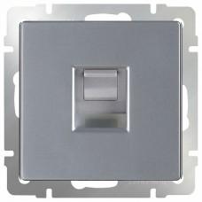 Розетка Ethernet RJ-45 без рамки Werkel Серебряный WL06-RJ-45