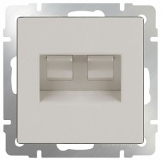 Розетка двойная Ethernet RJ-45 без рамки Werkel Слоновая кость WL03-RJ45+RJ45-ivory