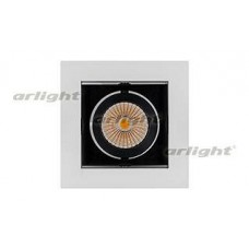 Встраиваемый светильник Arlight CL-KARDAN-S102x102-9W Day (WH-BK, 38 deg)