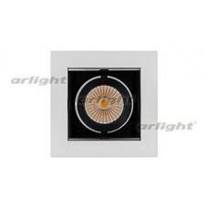 Встраиваемый светильник Arlight CL-KARDAN-S102x102-9W Warm (WH-BK, 38 deg)